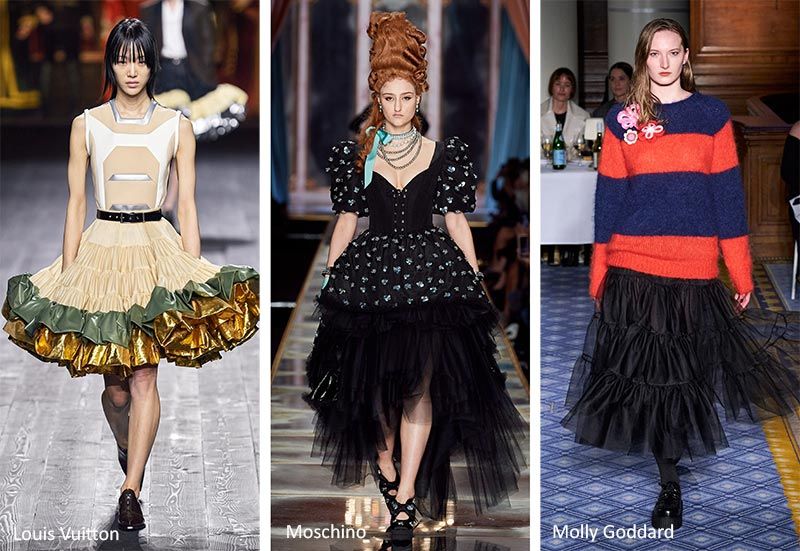 Модные тенденции (тренды) осень-зима 2020-2021 - юбки с оборками