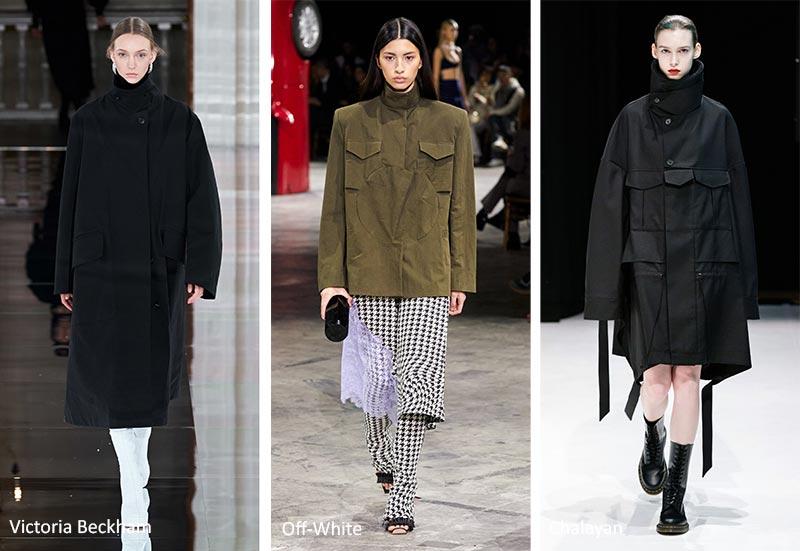 Куртки и пальто с высоким воротом