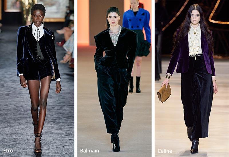 Осень / Зима 2020-2021 Модные тенденции: Бархат