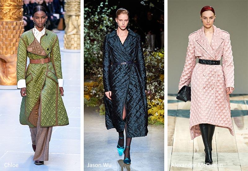 Модные тенденции (тренды) осень-зима 2020-2021 - стеганные пальто