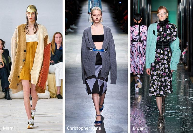 Осень / Зима 2020-2021 Модные тенденции: кардиганы