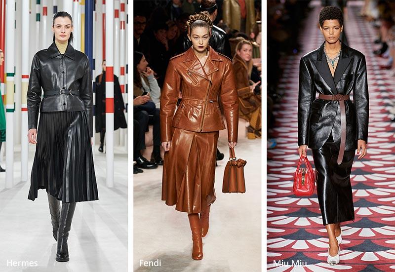 Осень / Зима 2020-2021 Модные тенденции: кожаные костюмы