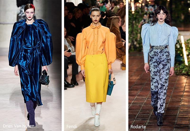 Осень / Зима 2020-2021 Модные тенденции: пышные рукава