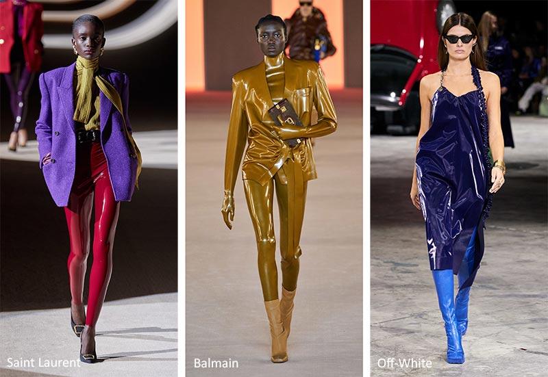 Осень / Зима 2020-2021 Модные тенденции: латекс