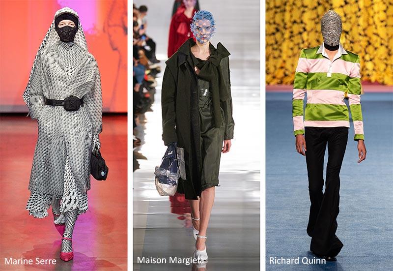 Осень / Зима 2020-2021 Модные тренды: закрытые лица