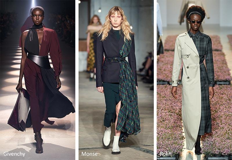 Осень / Зима 2020-2021 Модные тренды: половина и половина одежды