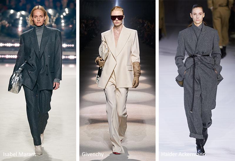 Осень / Зима 2020-2021 Модные тенденции: неопрятные костюмы