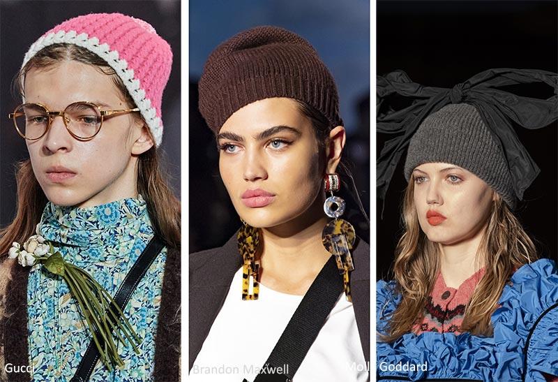 шапочки для зимы и осени