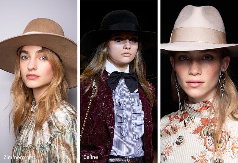 Осень / зима 2020-2021 Модные шляпы: широкополые шляпы Fedora, вдохновленные мужской одеждой
