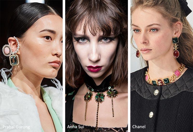 Модные аксессуары осень-зима 2020-2021 Ювелирные тенденции: красочные бижутерия