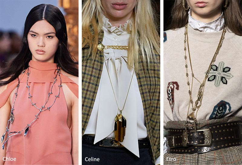 Тенденции ювелирного искусства: Длинные подвесные ожерелья