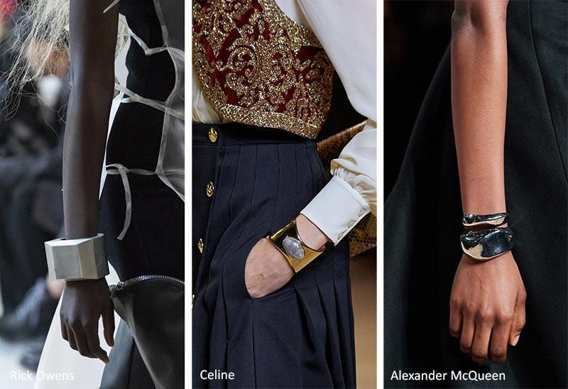 Модные аксессуары осень-зима 2020-2021 Тенденции ювелирного искусства: Браслеты-манжеты