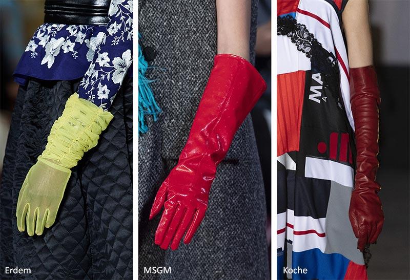 Модные аксессуары (украшения) осень-зима 2020-2021: длинные перчатки