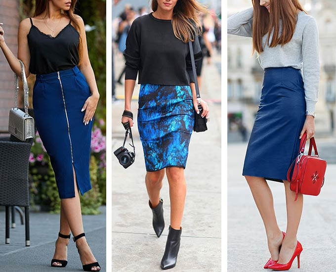 обувь под синюю юбку-карандаш